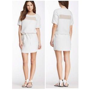 W118 Walter Baker White Mesh Panel Dress! Prom!